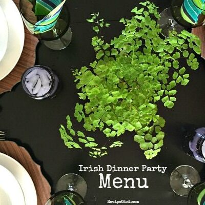 Irish Dinner Party Menu