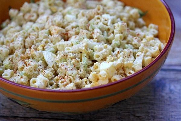 Old Fashioned Macaroni Salad recipe - from RecipeGirl.com