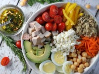 Roasted Pork Protein Bowl with Rosemary Vinaigrette