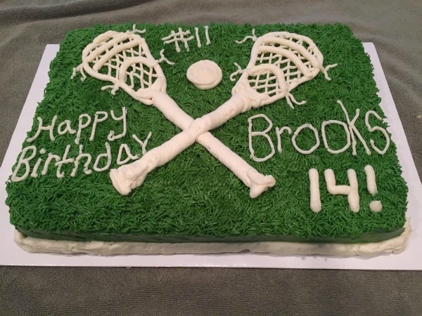 Lacrosse Birthday Cake Picture