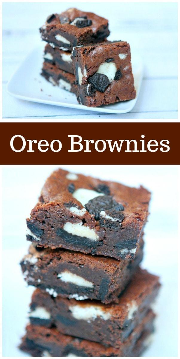 Oreo Brownies recipe from RecipeGirl.com #Oreo #Brownies #recipe #RecipeGirl
