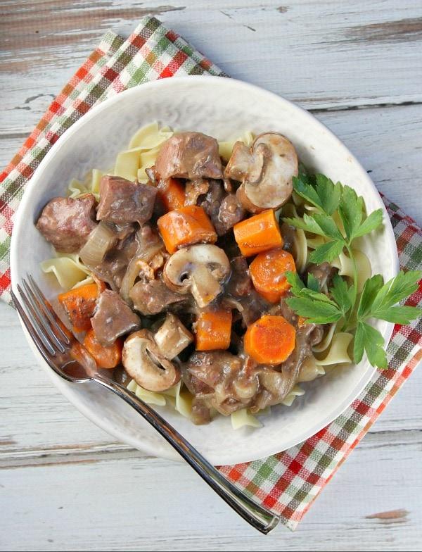 Slow Cooker Beef Burgundy Recipe - RecipeGirl.com