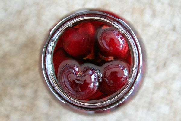 Boozy Bourbon Cherries recipe - from RecipeGirl.com