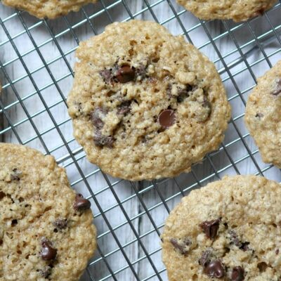Gluten Free, Dairy Free Oatmeal Chocolate Chip Cookies