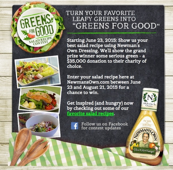 Greens for Good Recipe Contest