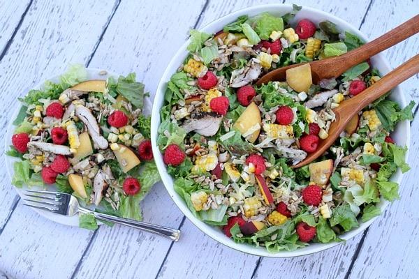 Grilled Chicken Summer Salad Recipe - RecipeGirl.com