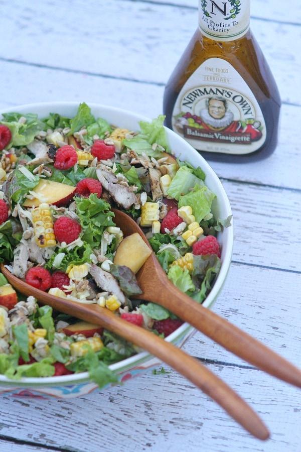 Grilled Chicken Summer Salad with Balsamic Vinaigrette
