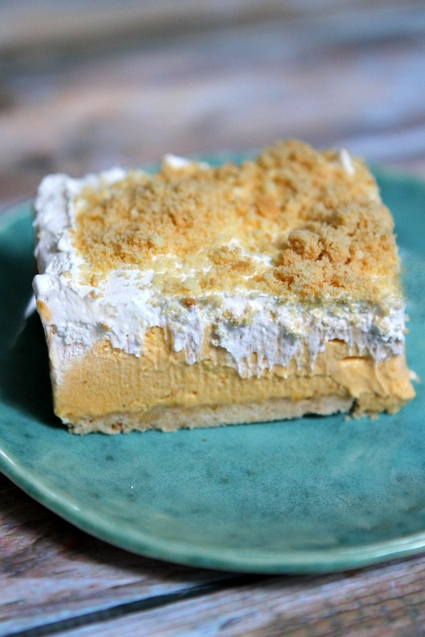 No Bake Pumpkin Shortbread Bars Recipe - RecipeGirl.com