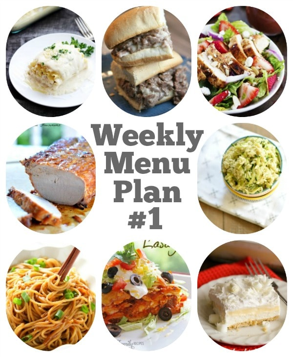 Weekly Menu Plan #1