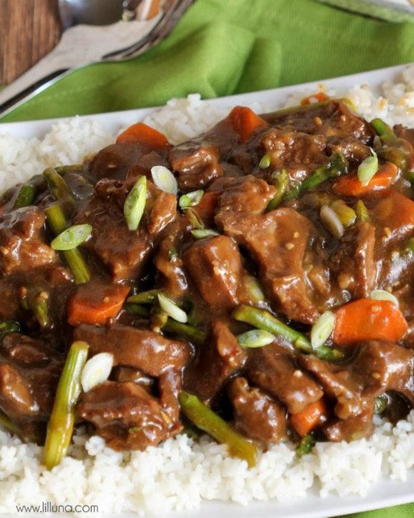 Crock Pot Mongolian Beef - LilLuna.com