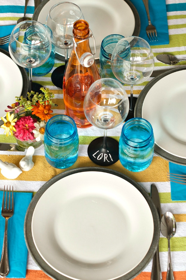 Table setting for Pool Party