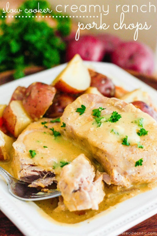 Slow Cooker Creamy Ranch Pork Chops - TheRecipeCritic.com