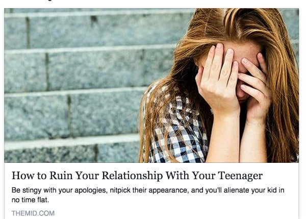 Teenager Article