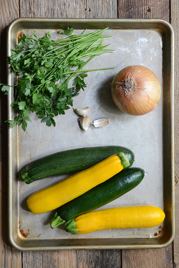 Vegetables for Cheesy Summer Squash Gratin