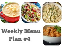 Weekly Menu Plan #4 Reduced