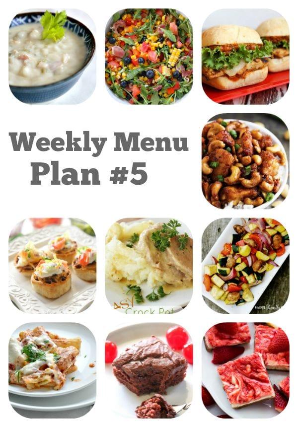 Weekly Menu Plan #5