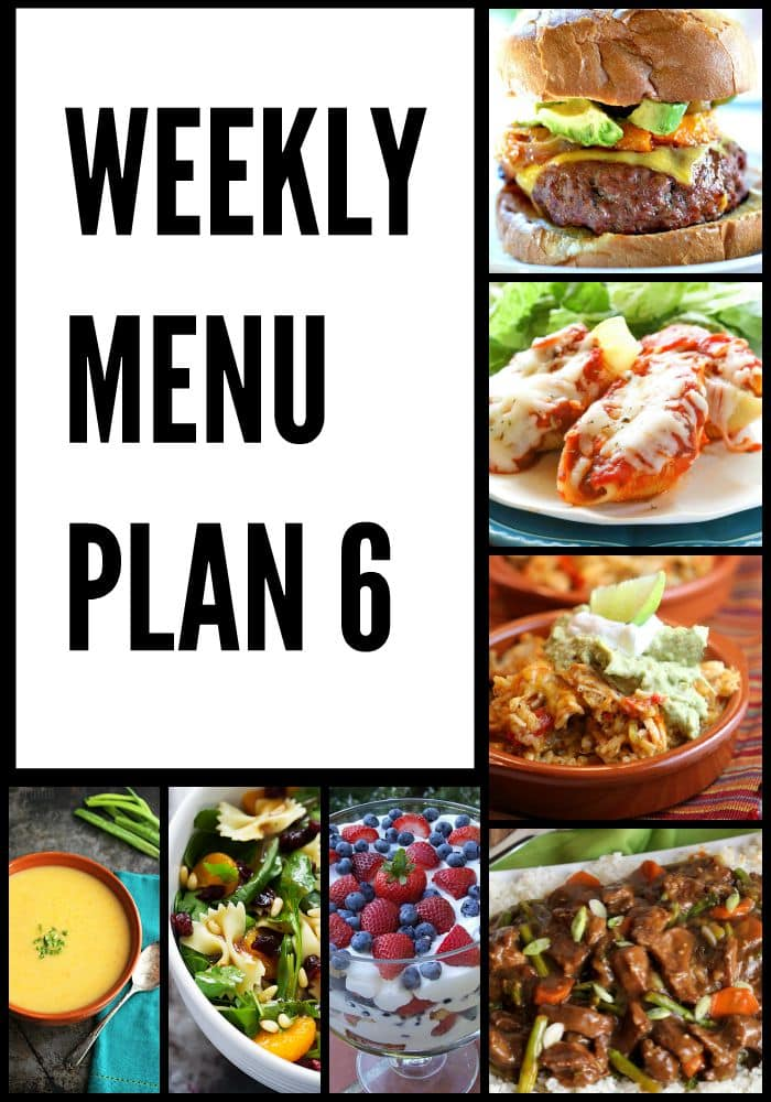 Weekly Menu Plan 6