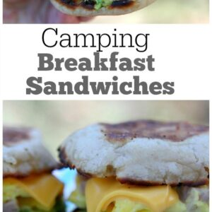pinterest collage image for camping breakfast sandwiches