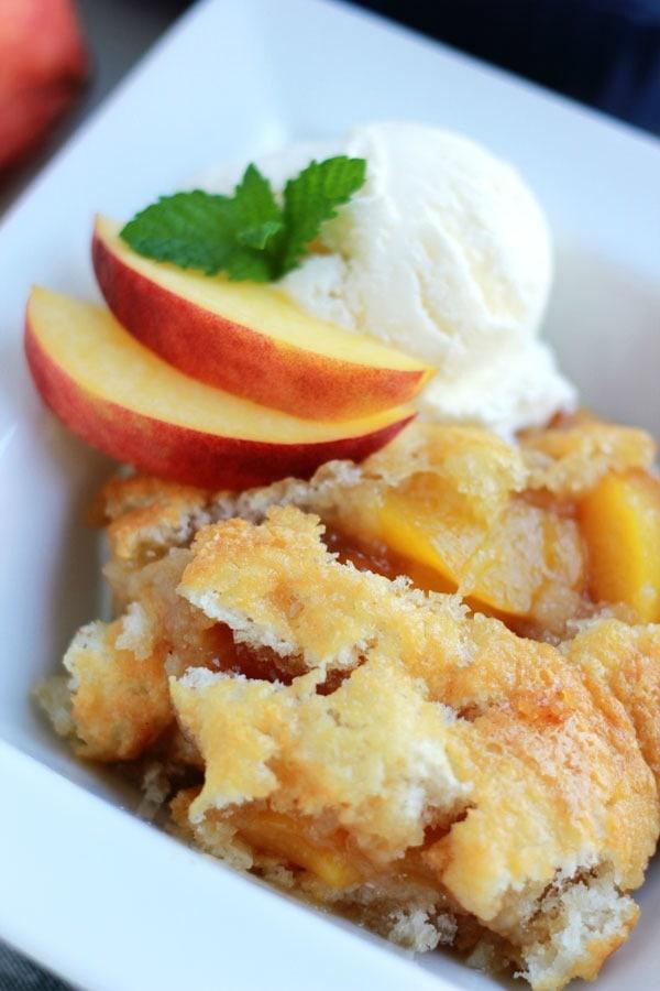 Peach Cobbler Recipe - from RecipeGirl.com