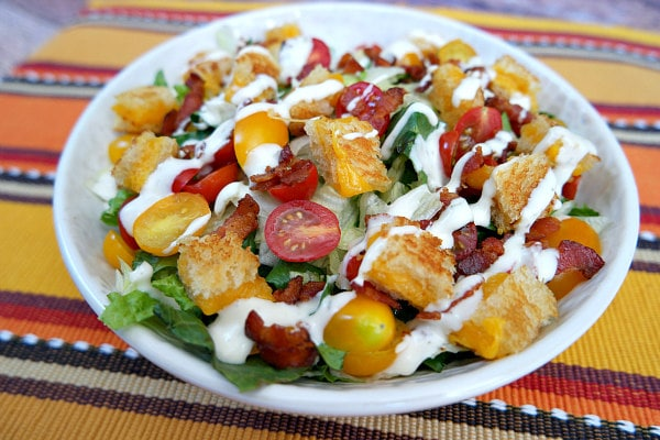 BLT Grilled Cheese Salad with Ranch Dressing - blogs de Recipes
