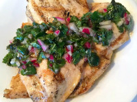 Grilled Chicken with Basil Chimichurri
