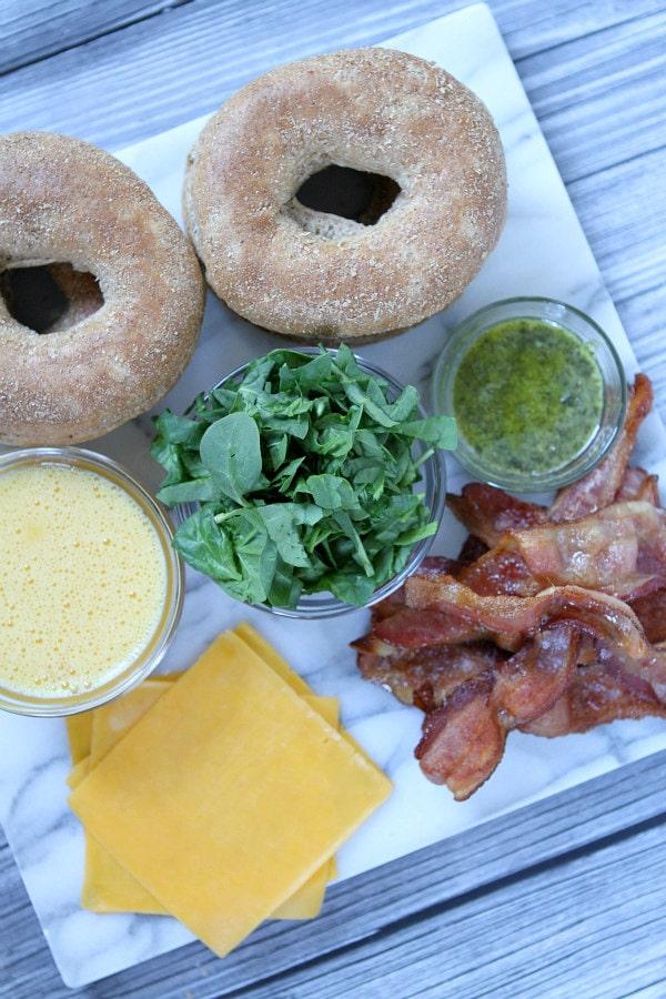 Make Ahead Breakfast Sandwiches Prep
