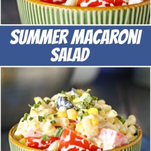 pinterest collage image for summer macaroni salad