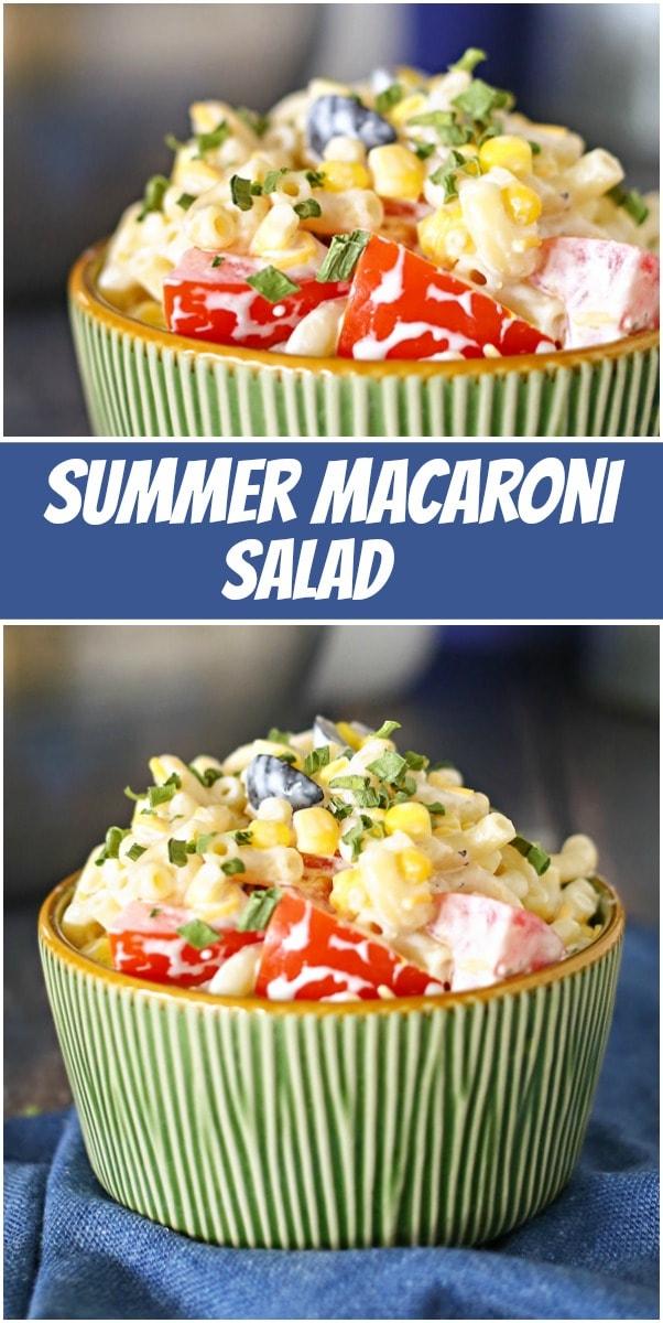 pinterest collage image for summer macaroni salad