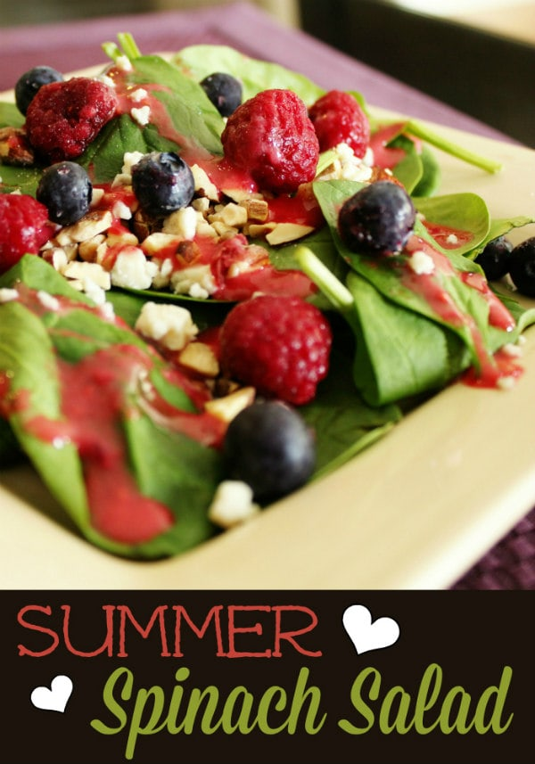 Summer Spinach Salad with Raspberry Vinaigrette
