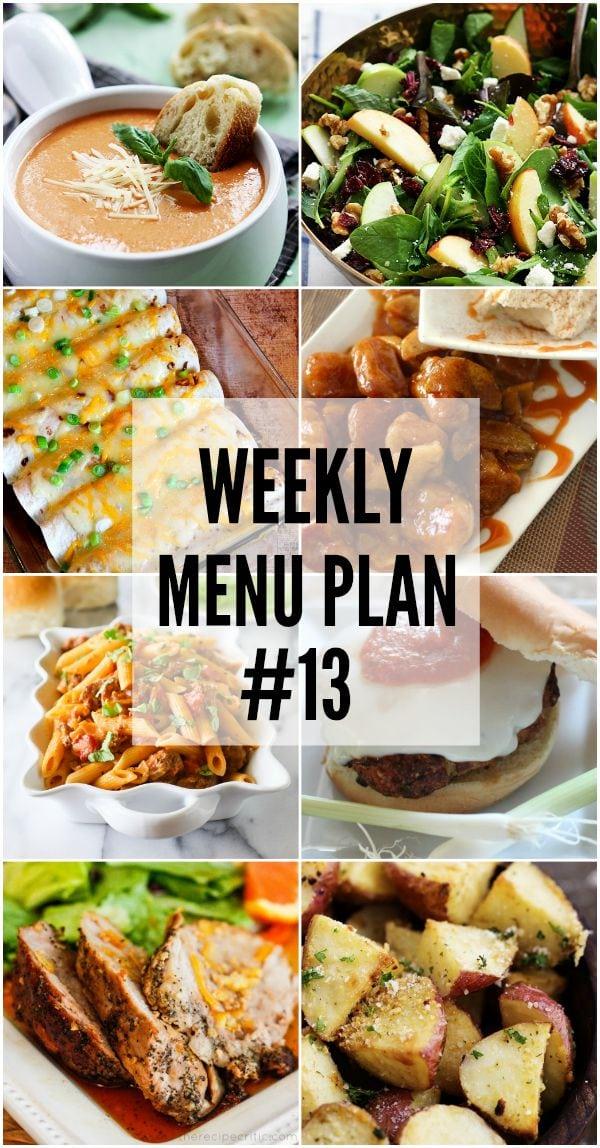 Weekly Menu Plan #13
