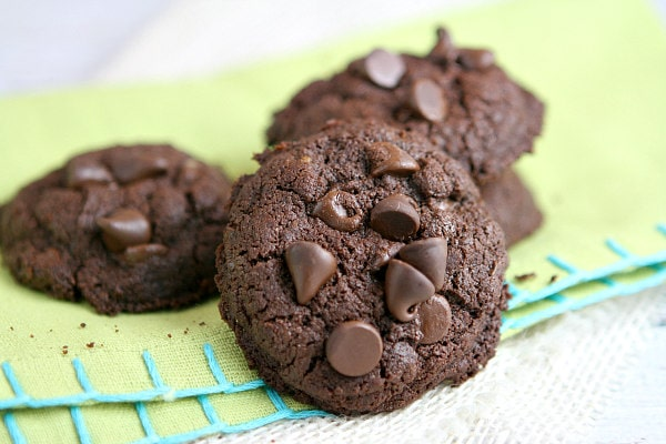 Whole Wheat Double Dark Chocolate Brownie Cookies Recipe