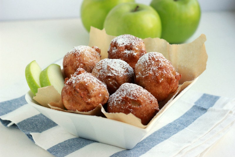 Apple Fritters in a basket