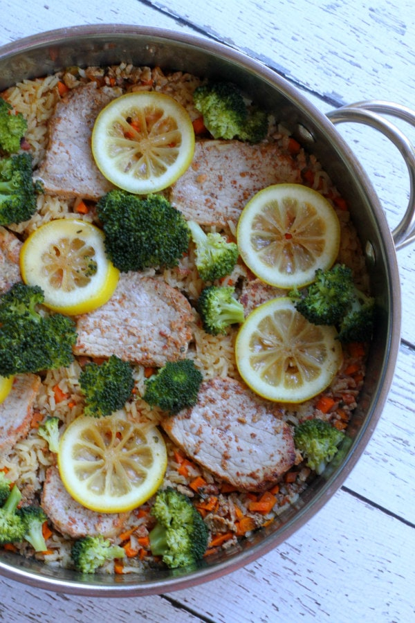 Applewood Smoked Pork and Rice Skillet Recipe