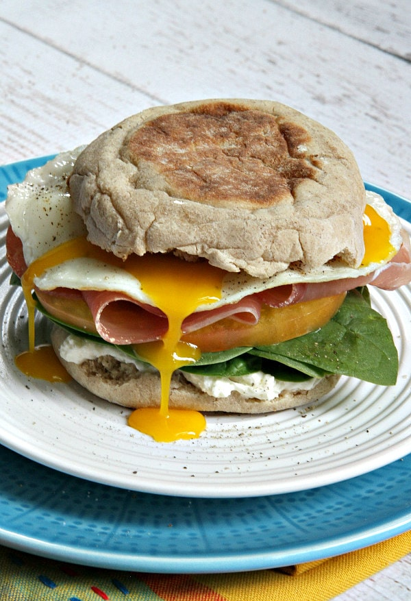 Protein Packed Breakfast Sandwiches Recipe - RecipeGirl.com