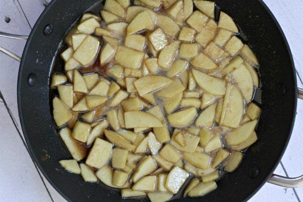 Caramel Apple Bagel Bread Pudding 3