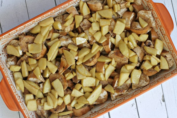 Caramel Apple Bagel Bread Pudding 4