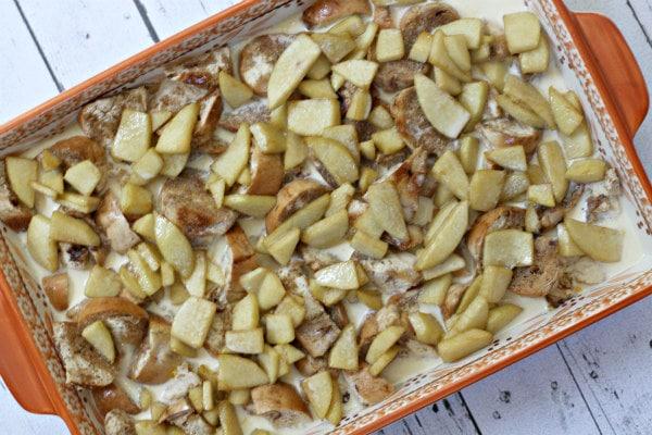 Caramel Apple Bagel Bread Pudding 5