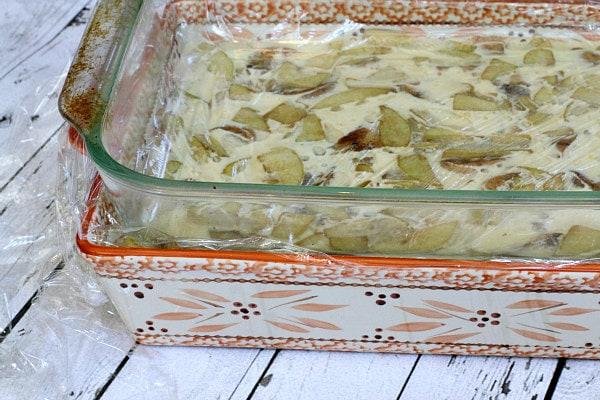 Caramel Apple Bagel Bread Pudding 6