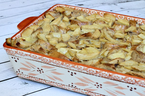 Caramel Apple Bagel Bread Pudding Recipe