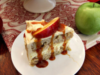 Caramel Apple Cheesecake Cake