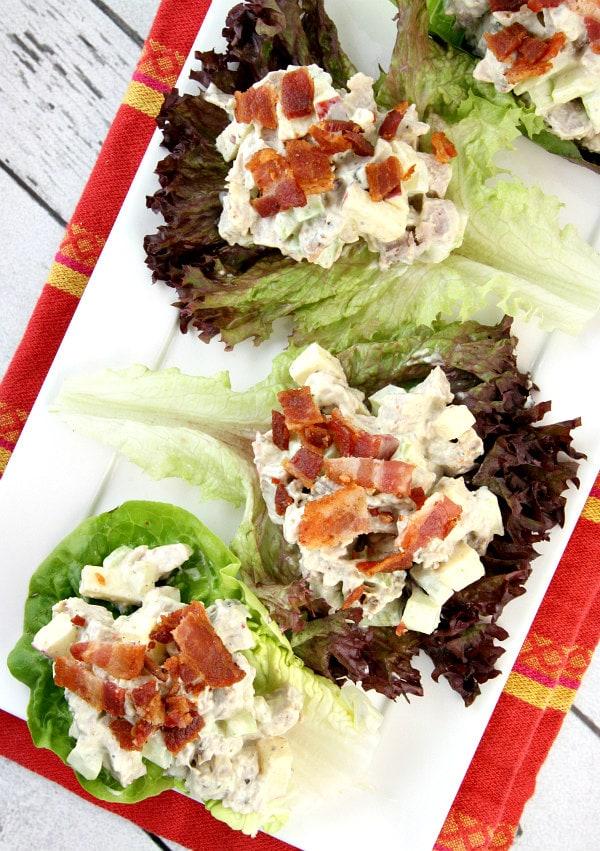 Curry Pork Lettuce Wraps with Bacon - RecipeGirl