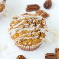 pumpkin coffee cake muffin