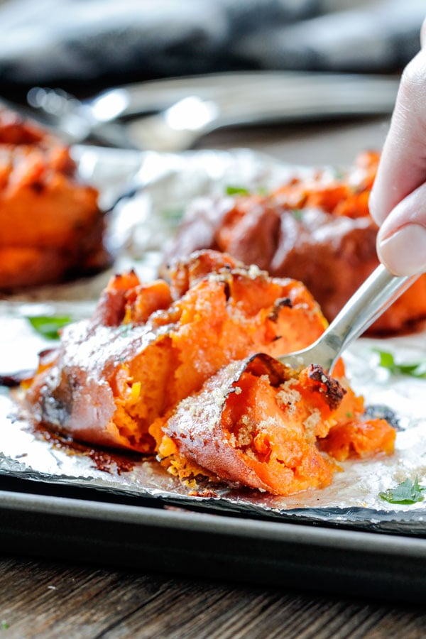 Perfection every time. These Smashed Sweet Potatoes will make your ...