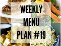 Weekly Menu Plan 19