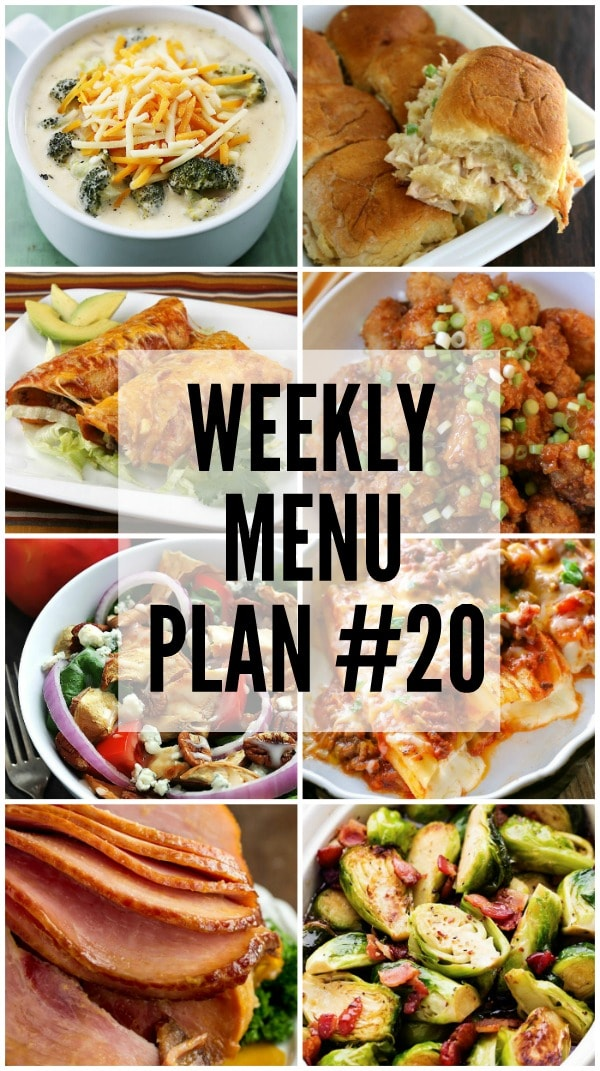 Weekly Menu Plan #20
