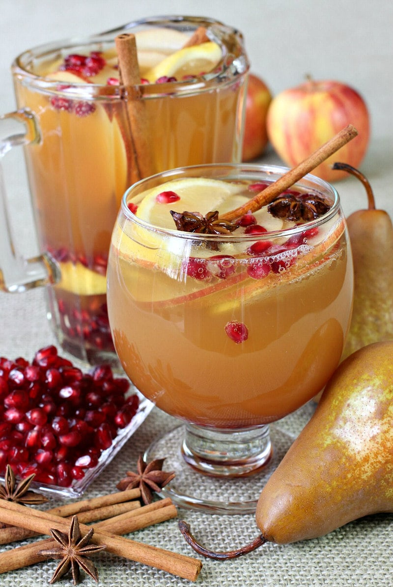 Pitcher of Apple Cider Sangria