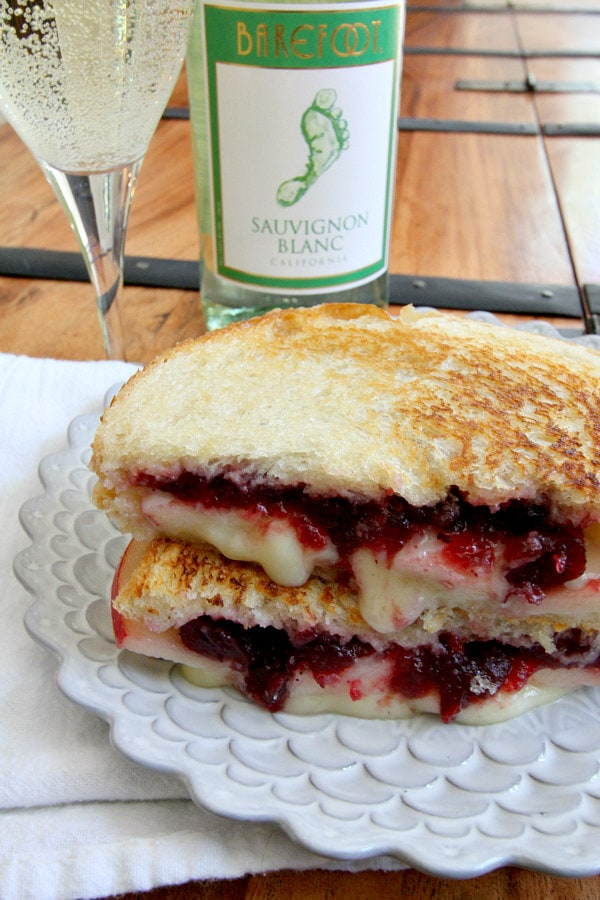 Brie Apple and Cranberry Grilled Cheese Recipe - RecipeGirl.com