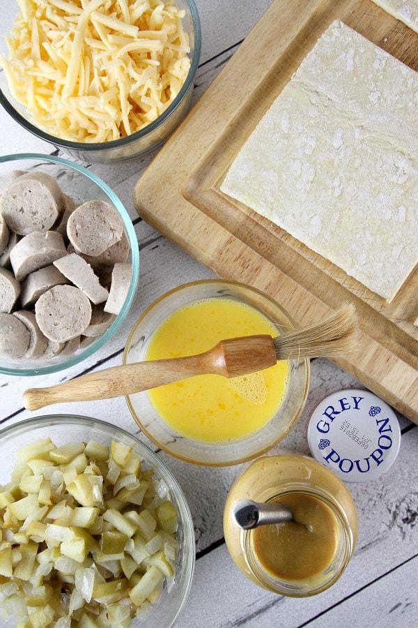 English Sausage Pastries Ingredients