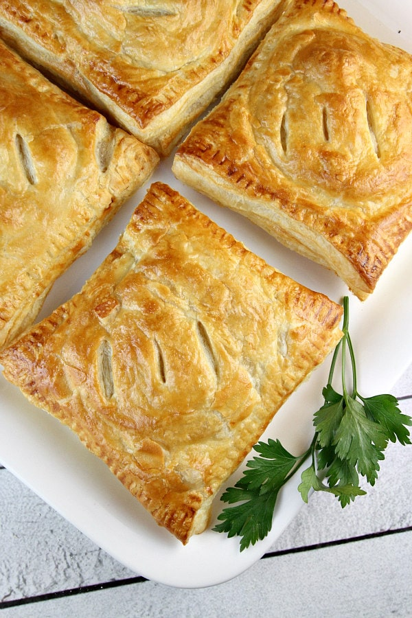 English Sausage Pastries - a Downton Abbey Kitchen Recipe for a Downton Abbey Dinner Party! A delicious addition to Downton Abbey Recipes using English sausages!