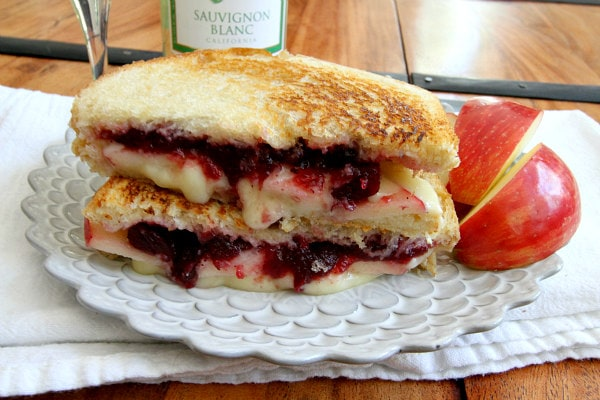 Brie, Apple and Cranberry Grilled Cheese